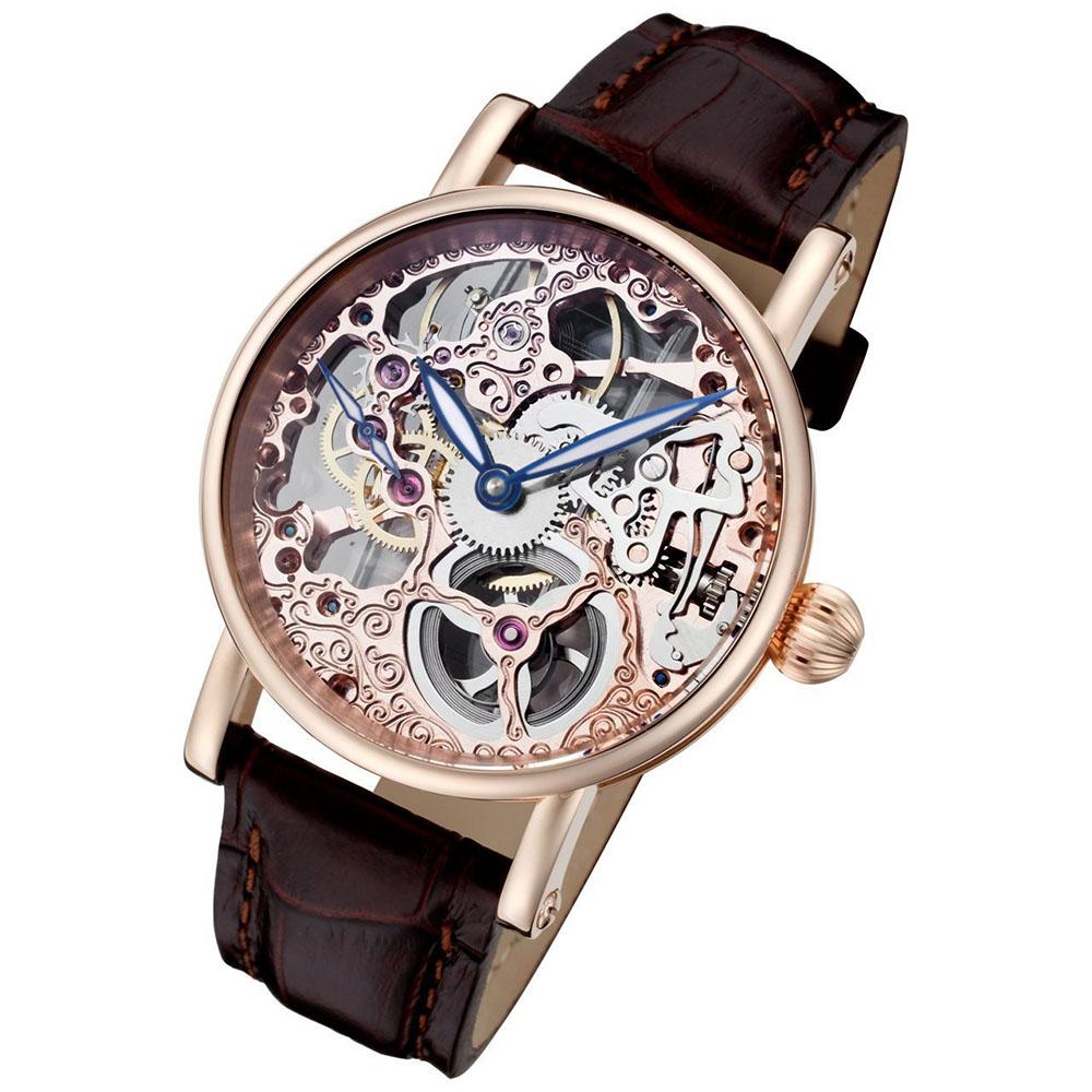 Rougois Skeleton Gold Rosarita Watch Mechanical kiPOXZu