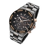 Cirros Milan Barbero Black Ceramic and Gold Carbon Fiber Men's Watch