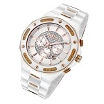 Cirros Milan Marveloso White Ceramic and Gold Carbon Fiber Men's Watch