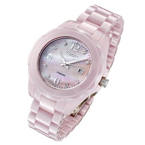 Cirros Milan Seducente Pink Ceramic MOP Diamond Dial Ladies Watch