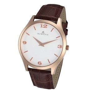 Rougois Gentry Series Stainless Steel Rose Gold Tone Watch