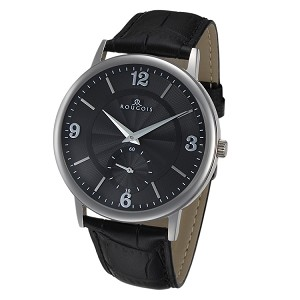 Rougois Lexington Series Black Texture Dial Stainless Steel Watch