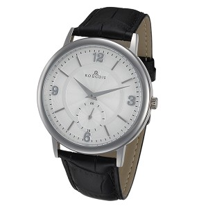 Rougois Lexington Series Stainless Steel Watch with White Textured Dial