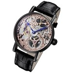 Rougois Tattoo Rose Gold Mechanical Skeleton
