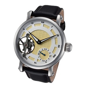 Rougois Open Heart Jeweled Movement Skeleton Watch