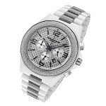 Cirros Milan White Ceramic and Silver Carbon Fiber Men's Chronograph Watch