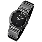 Cirros Milan Luxury Unisex Black Ceramic Watch with Diamond Model 2280GB