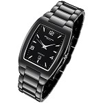 Cirros Milan Luxury Unisex Black Ceramic Watch with Date. Model 2296GB-MD