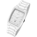 Cirros Milan Luxury Unisex White Ceramic Watch with Date Model 2296GW-MD