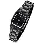 Cirros Milan Luxury Ladies Black Ceramic Watch Model 2296LB