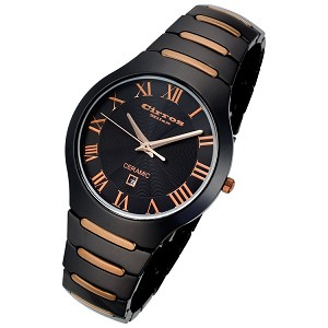 Cirros Milan Empire Series Black Copper Trim Ceramic Watch - CM2376BRG