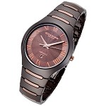 Cirros Milan Empire Series Chocolate Rose Gold Trim Ceramic Watch - CM2376BRRG