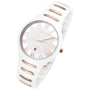 Cirros Milan Empire Series White with Rose Gold Trim Ceramic Watch - CM2376WRG