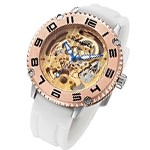 Rougois Skeleton Automatic Mechanical Watch - White