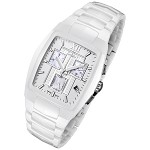 Rougois Men's High-Tech White Ceramic Watch with Chronograph