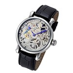 Rougois Mechanique Skeleton watch in stainless steel