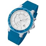 Rougois Pop Series Colorful Blue Silicone Band Watch