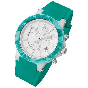 Rougois Pop Series Colorful Green Silicone Band Watch