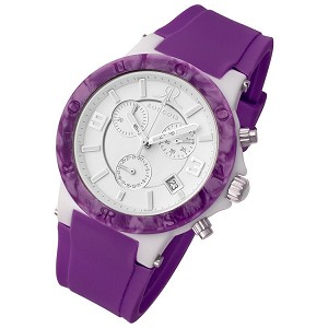 Rougois Pop Series Colorful Purple Silicone Band Watch