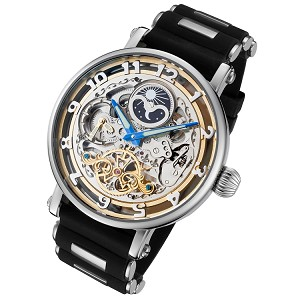 Rougois Moonphase Automatic Skeleton Dual Time Watch