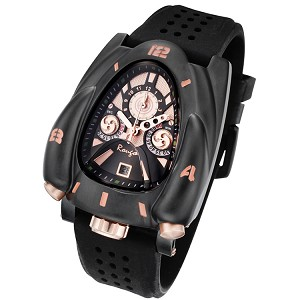 Black & Rose Gold Rougois Rocket Watch