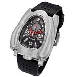 Silver & Black Rougois Rocket Watch