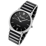 Rougois Luxe Series Black Ceramic and Steel Watch