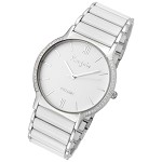 Rougois Luxe Series White Ceramic and Steel Watch
