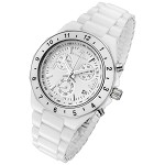 Rougois White Ceramic Ladies Chronograph Watch