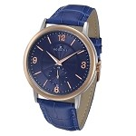 Rougois Lexington Series Blue Dial Stainless Steel Watch