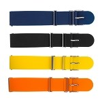 Silicone Military Watch Band - 22mm