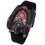 Black & Red Rougois Rocket Watch