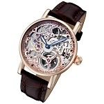 Rougois Rosarita Gold Mechanical Skeleton Watch